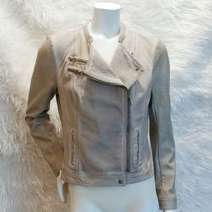 Blanc Noir Mixed Medium Moto Jacket